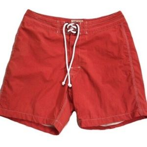 J. Crew Men's Classic Red Board Shorts Size 32